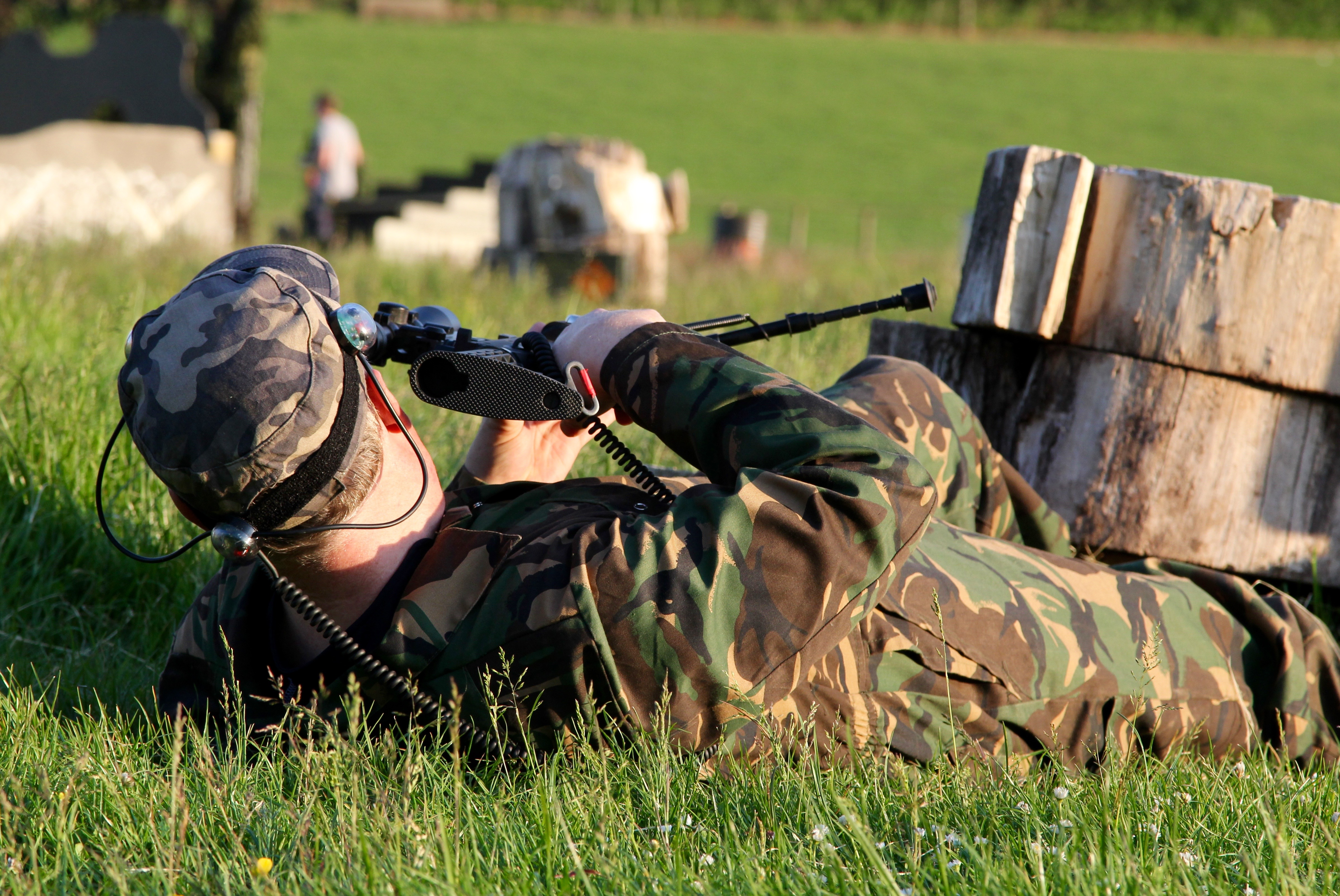 player-getting-ready-to-fire-during-laser-combat-game